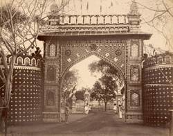 Triumphal arch, south gate [of the] New Palace.